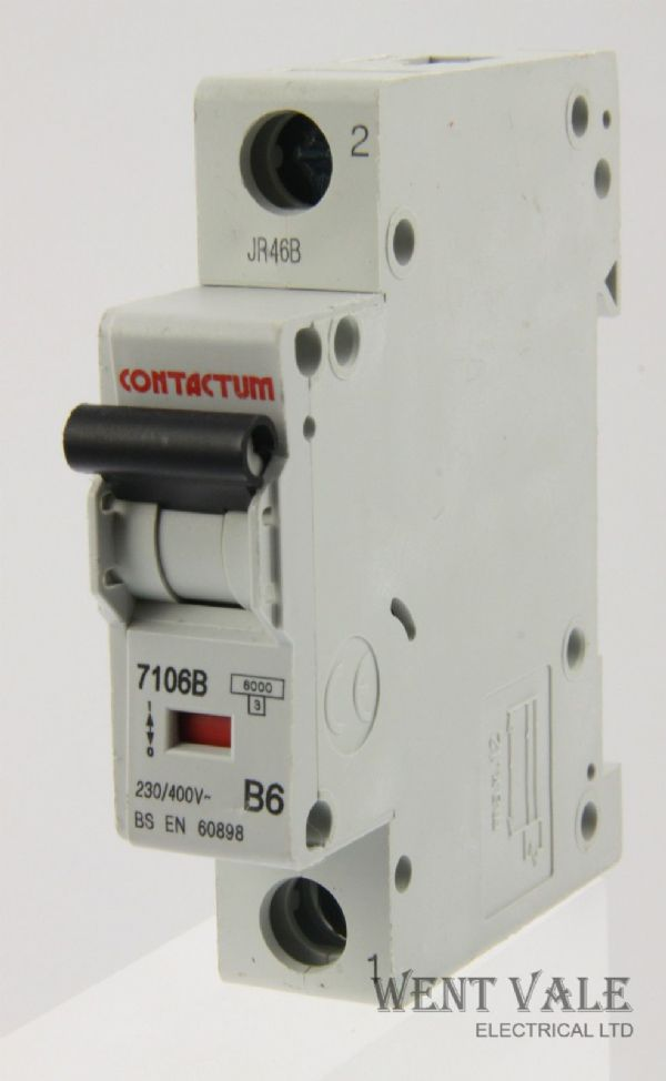 Contactum  - 7106B Mk 2 - 6a Type B Single Pole MCB New
